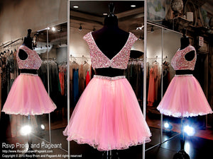 Lilac Two Piece Homecoming Dress / Rsvp Prom and Pageant, Atlanta, GA / Best Prom Store in Atlanta / #Promheaven