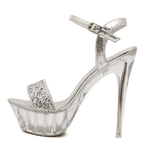 Silver Peep-Toe Platform Heels - Rsvp Prom and Pageant - Shoes - Rsvp Prom and Pageant - 1