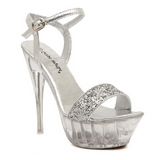 Silver Peep-Toe Platform Heels - Rsvp Prom and Pageant - Shoes - Rsvp Prom and Pageant - 2