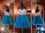 Midnight Green Short Homecoming Dress (SALE) - Rsvp BP - Short Dress - Rsvp Prom and Pageant Atlanta, Georgia GA - 1