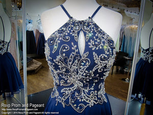 Navy Low Back Short Homecoming Dress / Rsvp Prom and Pageant, Atlanta, GA / Best Prom Store in Atlanta / #Promheaven