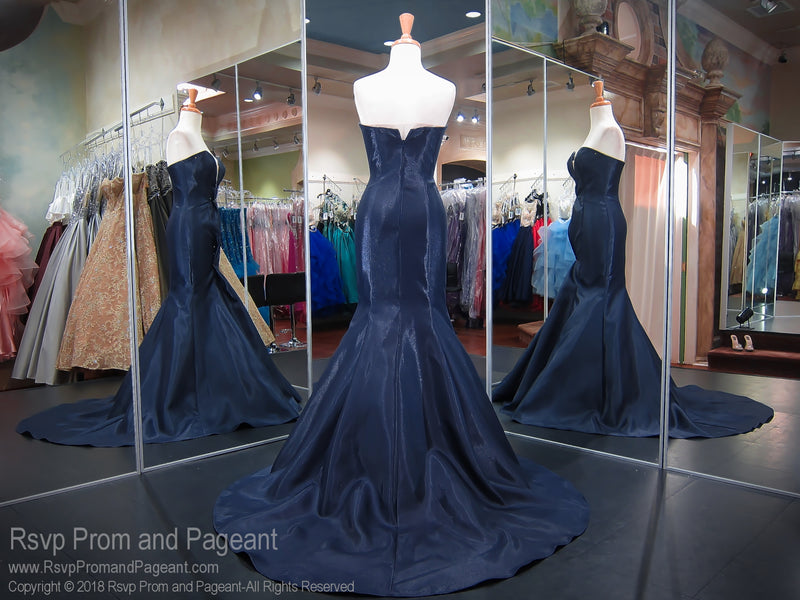 Navy Satin Strapless Sweetheart Mermaid Prom Dress 118JC063050 / Rsvp Prom and Pageant / Best Prom Dresses in Atlanta / #Promheaven
