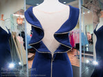 Navy/Gold V Neck Form Fitting Prom Dress 118EC0181380 / Rsvp Prom and Pageant / Best Prom Dresses in Atlanta / #Promheaven