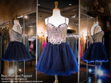 Navy Sweetheart Short Homecoming Dress (SALE) - Rsvp CLAR - Short Dress - Rsvp Prom and Pageant Atlanta, Georgia GA - 1