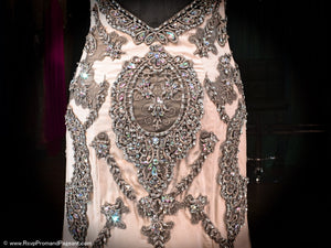 Nude Evening Gown-Baroque Crystal Details-High Sweetheart Neckline-Illusion Low Back-Mermaid Silhouette / Rsvp Prom and Pageant, Atlanta, GA / Best Prom Store in Atlanta / #Promheaven