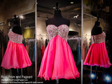 Pink Sweetheart Strapless Chiffon Homecoming Dress (SALE) - Rsvp COL - Short Dress - Rsvp Prom and Pageant Atlanta, Georgia GA - 1