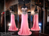 Pink Sweetheart Jersey Prom Dress - Rsvp EC - Long Gown - Rsvp Prom and Pageant - 1