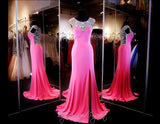 Pink Prom Dress - High Neckline - Crystal Low Back  115EC0152020435 - Rsvp EC - Long Gown - Rsvp Prom and Pageant - 1