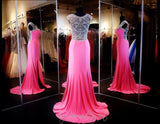 Pink Prom Dress - High Neckline - Crystal Low Back  115EC0152020435 - Rsvp EC - Long Gown - Rsvp Prom and Pageant - 3