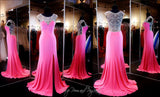 Pink Prom Dress - High Neckline - Crystal Low Back  115EC0152020435 / Rsvp Prom and Pageant, Atlanta, GA / Best Prom Store in Atlanta / #Promheaven