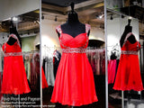 Red Chiffon Sweetheart Homecoming Dress (SALE) - Rsvp DJ - Short Dress - Rsvp Prom and Pageant Atlanta, Georgia GA - 1