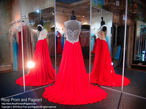 Valentine V Neck Sweep Train Prom Dress - Rsvp BP - Long Gown - Rsvp Prom and Pageant Atlanta, Georgia GA - 3