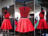 Red Two-Piece Short Homecoming Dress - Rsvp DJ - Short Dress - Rsvp Prom and Pageant - 2