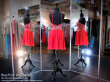 Red High Neck Drop Waist Chiffon Homecoming Dress - Rsvp EC - Short Dress - Rsvp Prom and Pageant - 6