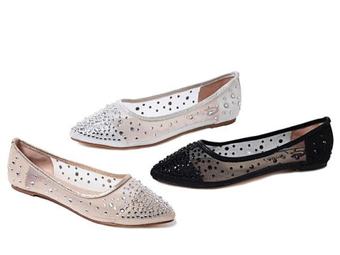 Silver Rhinestone Covered Platform Pumps