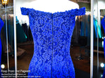 Royal Lace Fitted Off-the-Shoulder Prom Dress - Rsvp CLAR - Long Gown - Rsvp Prom and Pageant Atlanta, Georgia GA - 4