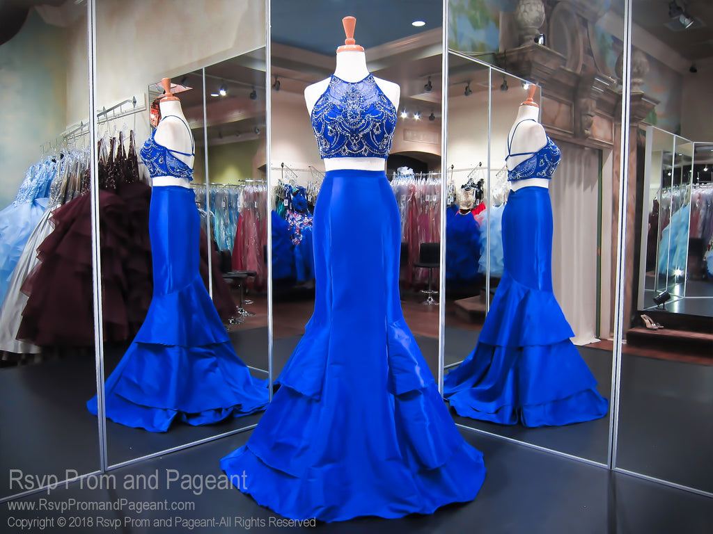 Royal High Neckline Open Back Two Piece Mermaid Prom Dress 118CLAR034880 / Rsvp Prom and Pageant / Best Prom Store in Atlanta / #promheaven