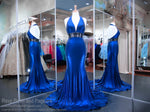 Royal V-Neck Open Back Prom Dress 118JC062090 / Rsvp Prom and Pageant / Best Prom Dresses in Atlanta / #Promheaven