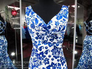 Floral V-Neck Low Back Mermaid Prom Dress 118RS032880 / Rsvp Prom and Pageant / Best Prom Store in Atlanta / #PromHeaven