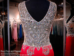 Red V-Neck Fitted Long Dress / Rsvp Prom and Pageant, Atlanta, GA / Best Prom Store in Atlanta / #Promheaven