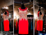 Red Fitted Short Cocktail Dress - Rsvp HS - Short Dress - Rsvp Prom and Pageant - 1