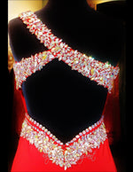 Red Jersey One Shoulder Prom Dress Beaded Sweetheart Neckline - Rsvp EC - Long Gown - Rsvp Prom and Pageant Atlanta, Georgia GA - 5