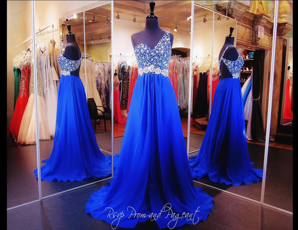 Royal Blue Prom Dress / Rsvp Prom and Pageant