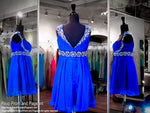 Sapphire Cap Sleeved Chiffon Dress (SALE) - Rsvp DJ - Short Dress - Rsvp Prom and Pageant Atlanta, Georgia GA - 5