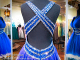 Sapphire V-Neck Open Back Beaded Homecoming Dress - Rsvp DJ - Short Dress - Rsvp Prom and Pageant - 7