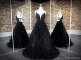 Black V Neckline Ball Gown Prom Dress at Rsvp Prom and Pageant, the largest Atlanta Prom store also known as Promheaven