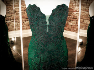 Bodice of Emerald Sweetheart Neckline Strapless Prom Dress at Rsvp Prom and Pageant, the largest Atlanta Prom Dress store also known as promheaven