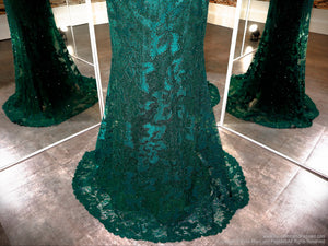 Skirt of Emerald Sweetheart Neckline Strapless Prom Dress at Rsvp Prom and Pageant, the largest Atlanta Prom Dress store also known as promheaven