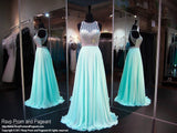 Seafoam A-Line Beaded Prom Dress - Rsvp CLAR - Long Gown - Rsvp Prom and Pageant Atlanta, Georgia GA - 1