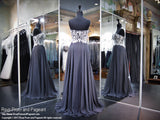 Smoke Silver Strapless Sweetheart Prom Dress - Rsvp CLAR - Long Gown - Rsvp Prom and Pageant Atlanta, Georgia GA - 3