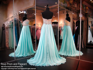 Seamist Sweetheart Strapless Ombre Top Chiffon Dress - Rsvp BP - Long Gown - Rsvp Prom and Pageant Atlanta, Georgia GA - 3