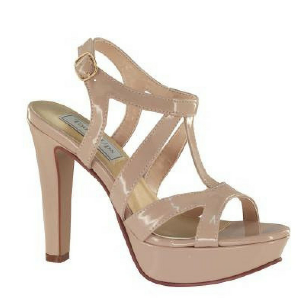 Classy Strappy Nude Patent Heel with Platform / Rsvp Prom and Pageant, Atlanta, GA / Best Prom Store in Atlanta / #Promheaven