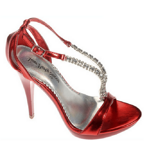 Red Sparkly Peep Toe Heel / Rsvp Prom and Pageant, Atlanta, GA / Best Prom Store in Atlanta / #Promheaven