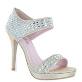 Rhinestone Light Gold Heels / Rsvp Prom and Pageant, Atlanta, GA / Best Prom Store in Atlanta / #Promheaven