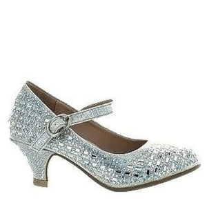 Childrens Bejeweled Silver Pageant Shoes / Rsvp Prom and Pageant, Atlanta, GA / Best Prom Store in Atlanta / #Promheaven
