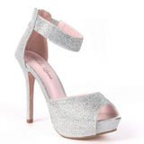 Classy Rhinestone Silver Heels / Rsvp Prom and Pageant, Atlanta, GA / Best Prom Store in Atlanta / #Promheaven