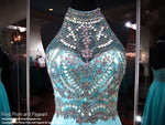 Turquoise Halter Open Back Prom Dress - Rsvp EC - Long Gown - Rsvp Prom and Pageant Atlanta, Georgia GA - 2