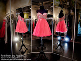Watermelon Sweetheart Strapless Tulle Homecoming Dress (SALE) - Rsvp RA - Short Dress - Rsvp Prom and Pageant Atlanta, Georgia GA - 2