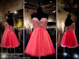Watermelon Sweetheart Strapless Tulle Homecoming Dress (SALE) - Rsvp RA - Short Dress - Rsvp Prom and Pageant Atlanta, Georgia GA - 1