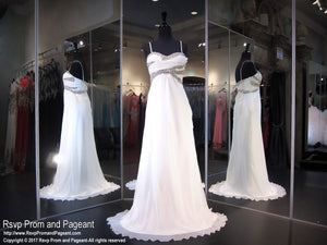 White Sweetheart Prom Dress (SALE) - Rsvp DJ - Long Gown - Rsvp Prom and Pageant Atlanta, Georgia GA - 1