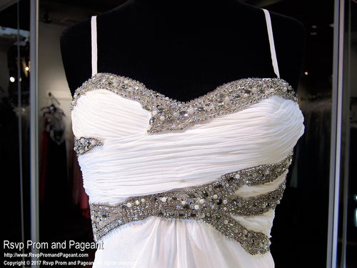 White Sweetheart Prom Dress (SALE) - Rsvp DJ - Long Gown - Rsvp Prom and Pageant Atlanta, Georgia GA - 2