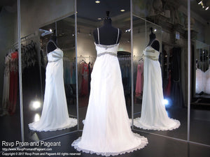 White Sweetheart Prom Dress (SALE) - Rsvp DJ - Long Gown - Rsvp Prom and Pageant Atlanta, Georgia GA - 3