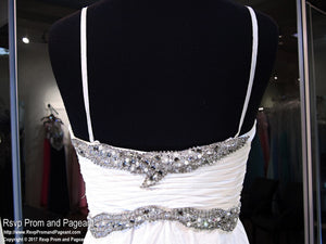 White Sweetheart Prom Dress (SALE) - Rsvp DJ - Long Gown - Rsvp Prom and Pageant Atlanta, Georgia GA - 4