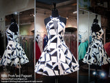 White Haltered Top and Printed Design Short Dress - Rsvp RA - Short Dress - Rsvp Prom and Pageant - 1