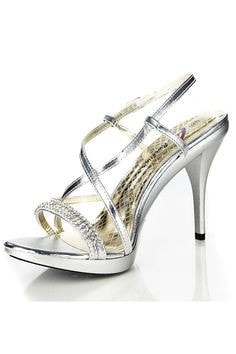 White Lace Sparkly High Heel