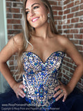 Navy Strapless Sweetheart Neckline Quinceanera Ball Gown / Rsvp Prom and Pageant / Atlanta Prom Dress Store / Best Quinceanera Dresses / Promheaven